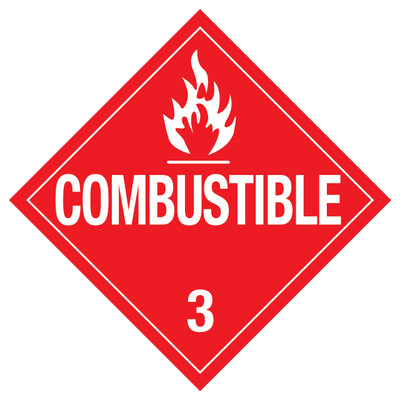 D.O.T. COMBUSTIBLE Sign