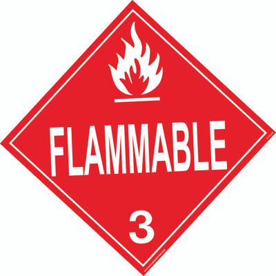 FLAMMABLE D.O.T. Sign