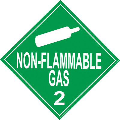 FLAMMABLE GAS D.O.T. Sign