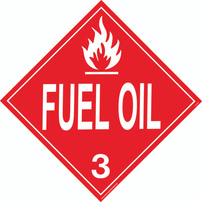 FUEL OIL D.O.T. Sign