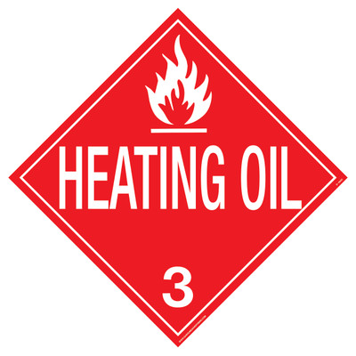 HEATING OIL D.O.T. Sign