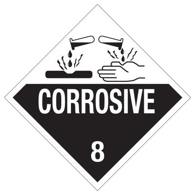 CORROSIVE D.O.T. Sign