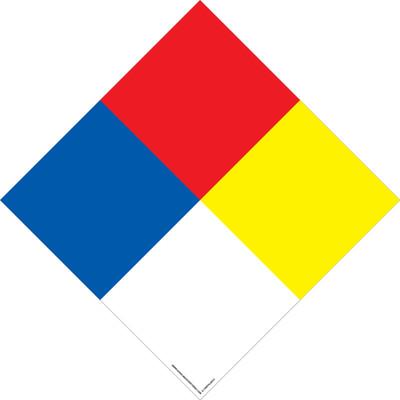 D-10NFPA NFPA Decal 4 Color Diamond R/W/Y/BU