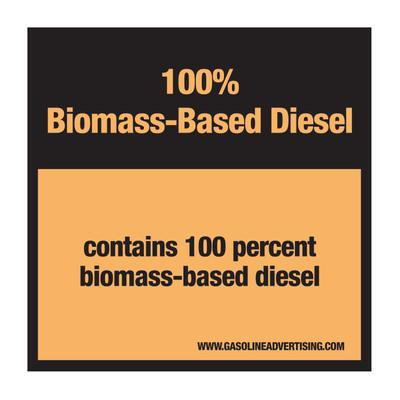 D-30C Pump Ad. Panel Decal - 100% BIOMASS