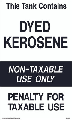 D1002 IRS Mandated Decal - THIS TANK CONTAINS...