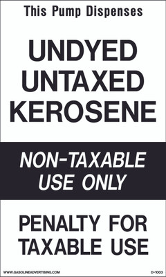 D1003 IRS Mandated Decal - THIS PUMP DISPENSES...
