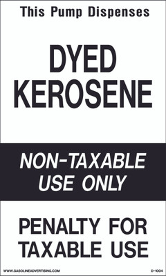 D1004 IRS Mandated Decal - THIS PUMP DISPENSES...