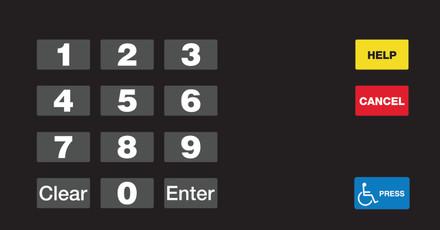GA-EU03004G096 Keypad Overlays