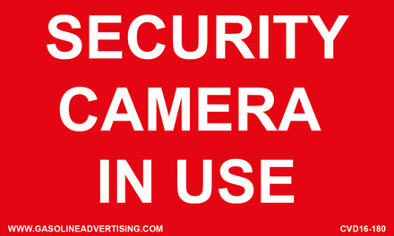 CVD16-180 - SECURITY CAMERA IN USE