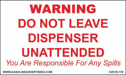 CVD16-179 WARNING...