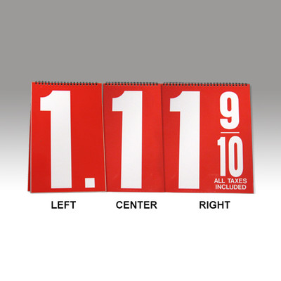 "Curb Stand Sign 12"" Numeral Booklets"