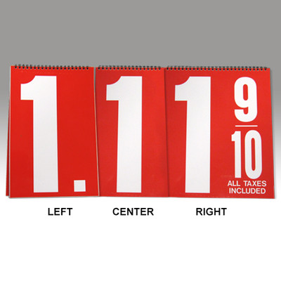 "Curb Stand Sign 24"" Numeral Booklets"