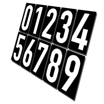 Magnet Number Set W/B