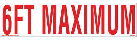 CVD17-010 - 6FT MAXIMUM