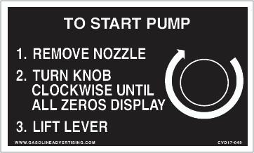 CVD17-049 - TO START PUMP...
