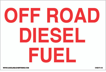 CVD17-110 - OFF ROAD DIESEL FUEL