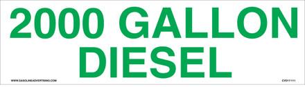 CVD17-111 - 2000 GALLON DIESEL