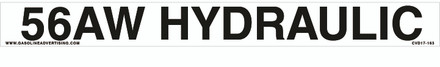 CVD17-163 - 56AW HYDRAULIC