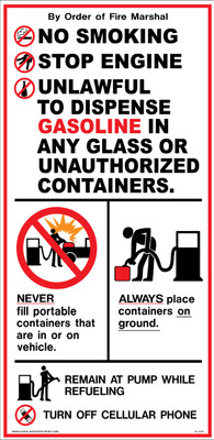 D-1122 Fueling Instruction Decal - NO SMOKING...