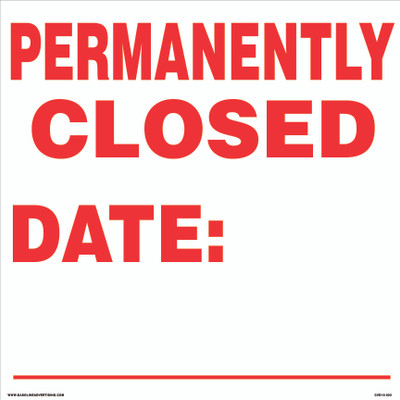 CVD18-022 - PERMANENTLY CLOSED