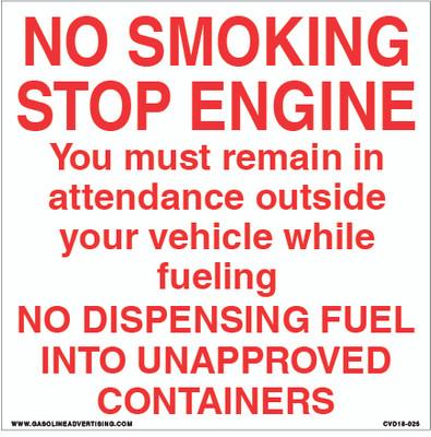 CVD18-025 - NO SMOKING...