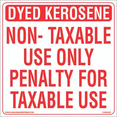CVD18-231 - DYED KEROSENE...
