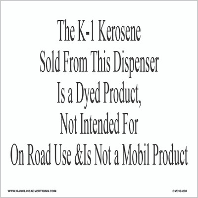 CVD18-233 - THE K-1 KEROSENE...
