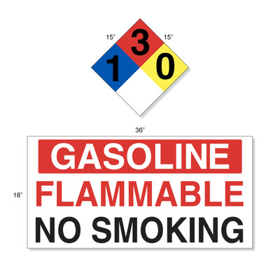 AST Gasoline High Performance Graphic Kit - 4 Each NFPA & Tank Decal