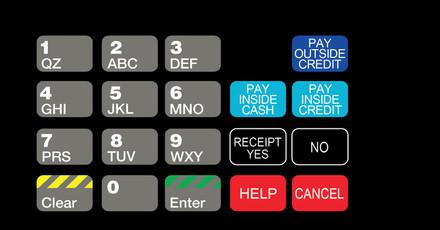 DG1-KPO-C01 Vista Keypad Overlay