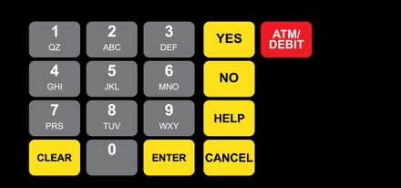 DG1-KPO-2-GL-C02-3 Vista Keypad Overlay