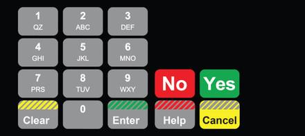 DG1-KPO-CTG-V Vista Keypad Overlay
