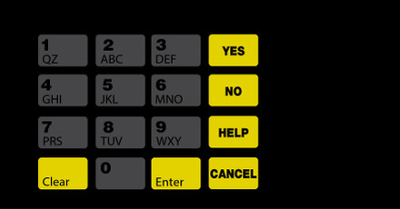 DG10-KPO-1-C03 Keypad Overlay