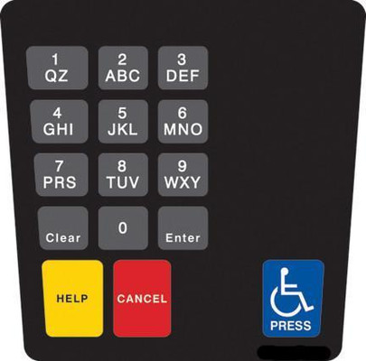 GA-ENE1701G001 Keypad Overlay