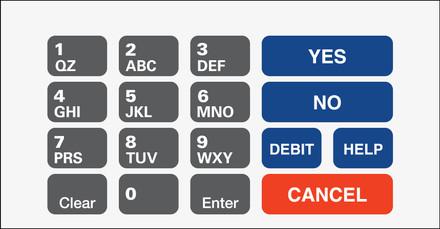 GA-T50064-5001 Keypad Overlay