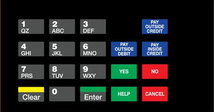 DG1-KPO-C04 Vista Keypad Overlay