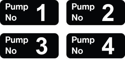 D-17 Pump number Decals