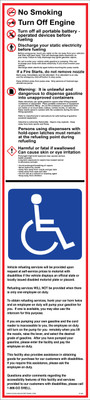 D-901 Fueling Instruction Decal - NO SMOKING...