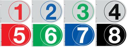 "Pump Number Flag Mount 14"" Rectangular Signs"