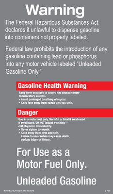 D-705 - FUELING INSTRUCTION DECAL
