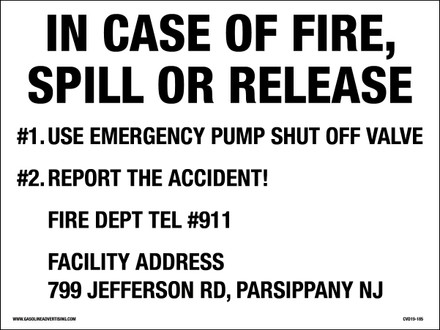 CVD19-185 - EMERGENCY SHUT OFF DECAL