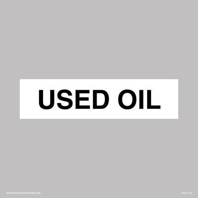 CVD19-178 - USED OIL API DECAL
