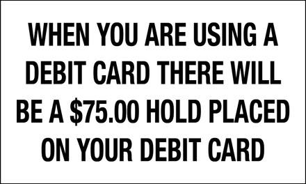 CVD19-166 - DEBIT CARD PAYMENT INSTRUCTIONS DECAL