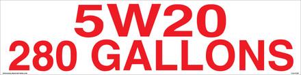 5W20 280 GALLONS - CVD-HTZ36