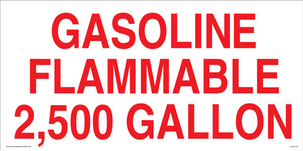 GASOLINE FLAMMABLE - CVD-HTZ42