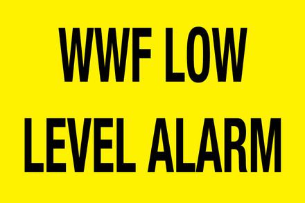WWF LOW LEVEL ALARM - CAS-HTZ9