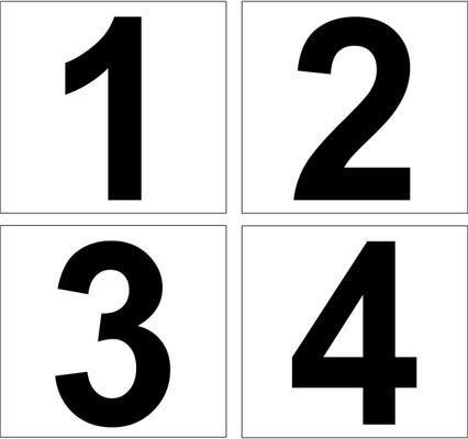 D-14/D-19 Pump number Decals