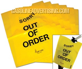 """NC6 """"OUT OF ORDER"""" Disposable Nozzle Bag"""