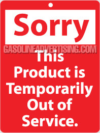 """NT-2 """"Sorry This product is.."""" Service Tag"""