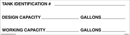 CVD20-051-184 TANK IDENTIFICATION #...