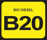 D-20-B20 Octane & Cetane Rating Decal - B20...